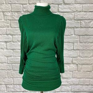 Arden B Green Turtleneck Sweater Dress